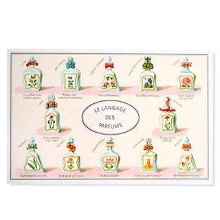 フランス ポストカード (パフューム)香水瓶 バラ スミレ すずらん スミレ ライラック