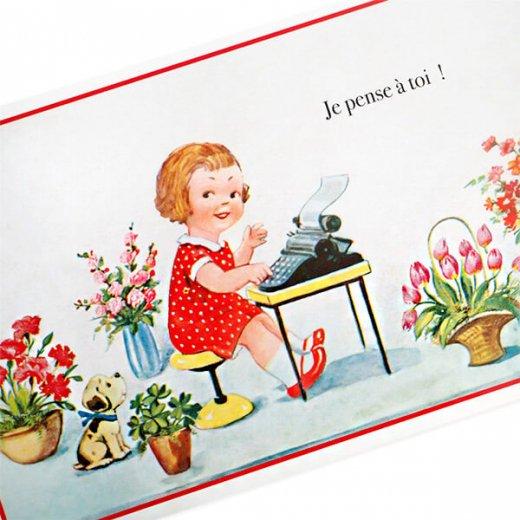 フランス ポストカード あなたのことを思っています(Je pense a toi!)【画像2】