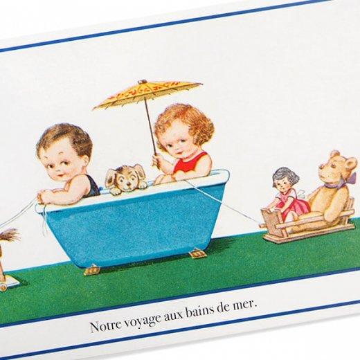 フランス ポストカード 私たちの航海(Notre Voyage aux bains de mer)【画像2】