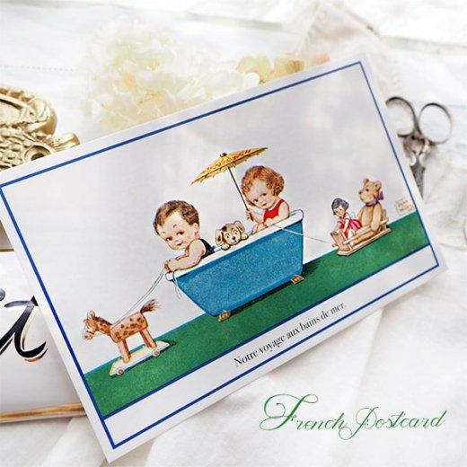 フランス ポストカード 私たちの航海(Notre Voyage aux bains de mer)【画像3】