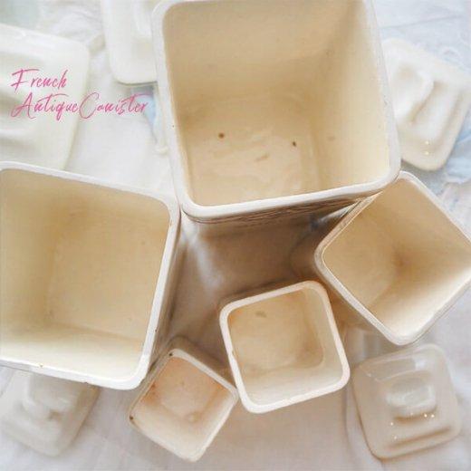 【送料無料】フランス アンティーク キャニスター 陶器 ローズ【5点セット】【画像5】