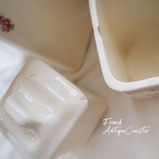 【送料無料】フランス アンティーク キャニスター 陶器 ローズ【5点セット】【画像7】
