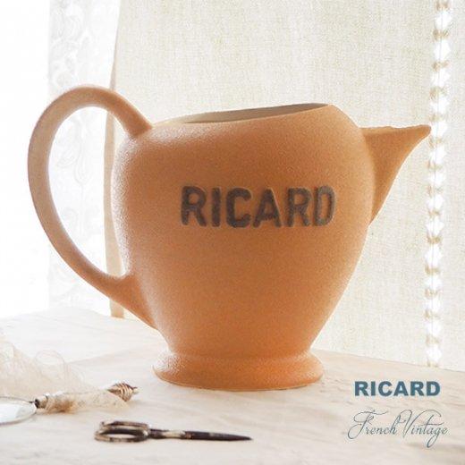 【送料無料】1950年代 フランス アンティーク カフェ RICARD リカール ピッチャー 陶器 アドバタイジング 販促品 フレンチパブ