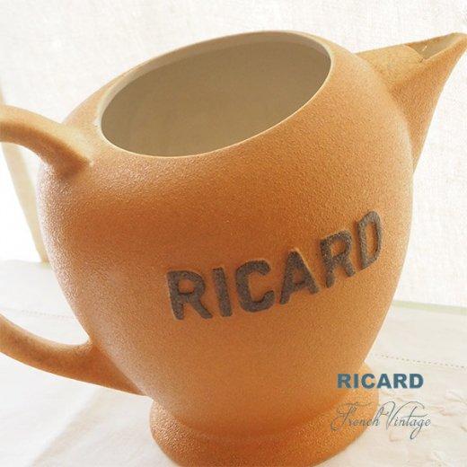 【送料無料】1950年代 フランス アンティーク カフェ RICARD リカール ピッチャー 陶器 アドバタイジング 販促品 フレンチパブ【画像2】