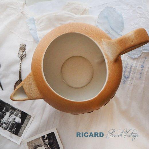 【送料無料】1950年代 フランス アンティーク カフェ RICARD リカール ピッチャー 陶器 アドバタイジング 販促品 フレンチパブ【画像3】