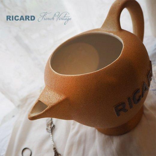 【送料無料】1950年代 フランス アンティーク カフェ RICARD リカール ピッチャー 陶器 アドバタイジング 販促品 フレンチパブ【画像4】