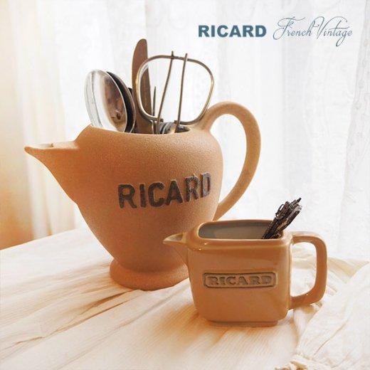 【送料無料】1950年代 フランス アンティーク カフェ RICARD リカール ピッチャー 陶器 アドバタイジング 販促品 フレンチパブ【画像7】
