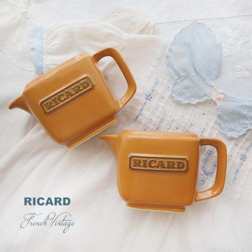 【単品販売】フランス アンティーク RICARD リカール プチ ピッチャー 陶器 カフェ 販促品 アドバタイジング フレンチパブ