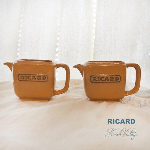 【単品販売】フランス アンティーク RICARD リカール プチ ピッチャー 陶器 カフェ 販促品 アドバタイジング フレンチパブ【画像2】