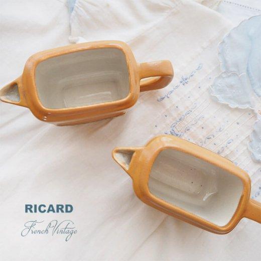 【単品販売】フランス アンティーク RICARD リカール プチ ピッチャー 陶器 カフェ 販促品 アドバタイジング フレンチパブ【画像3】