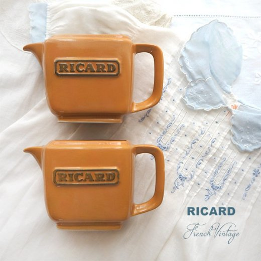 【単品販売】フランス アンティーク RICARD リカール プチ ピッチャー 陶器 カフェ 販促品 アドバタイジング フレンチパブ【画像4】