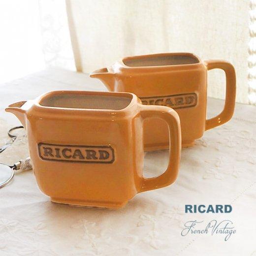 【単品販売】フランス アンティーク RICARD リカール プチ ピッチャー 陶器 カフェ 販促品 アドバタイジング フレンチパブ【画像5】