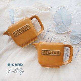 森ガール 雑貨 【単品販売】フランス アンティーク RICARD リカール プチ ピッチャー 陶器 カフェ 販促品 アドバタイジング フレンチパブ