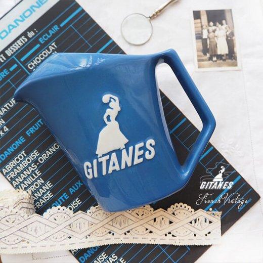 【送料無料】1960年代 フランス アンティーク カフェ フレンチパブ GITANES ピッチャー 陶器 アドバタイジング 販促品 たばこメーカー【画像2】