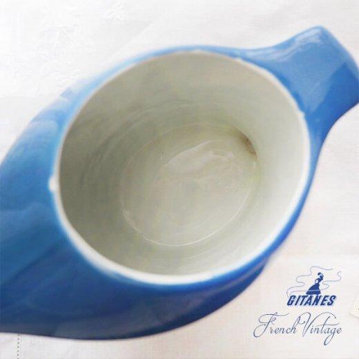 【送料無料】1960年代 フランス アンティーク カフェ フレンチパブ GITANES ピッチャー 陶器 アドバタイジング 販促品 たばこメーカー【画像4】
