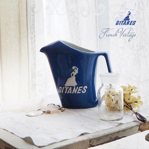 【送料無料】1960年代 フランス アンティーク カフェ フレンチパブ GITANES ピッチャー 陶器 アドバタイジング 販促品 たばこメーカー【画像5】