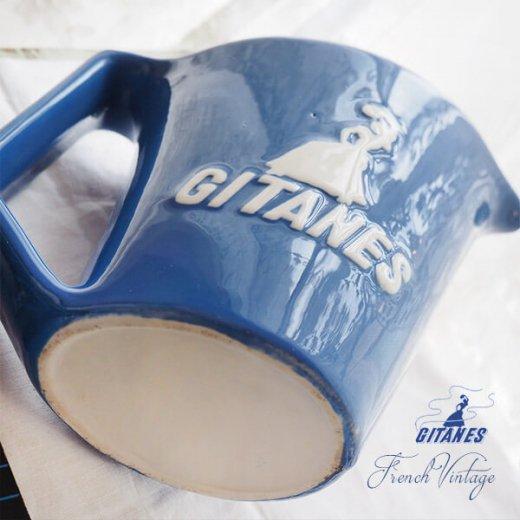 【送料無料】1960年代 フランス アンティーク カフェ フレンチパブ GITANES ピッチャー 陶器 アドバタイジング 販促品 たばこメーカー【画像6】