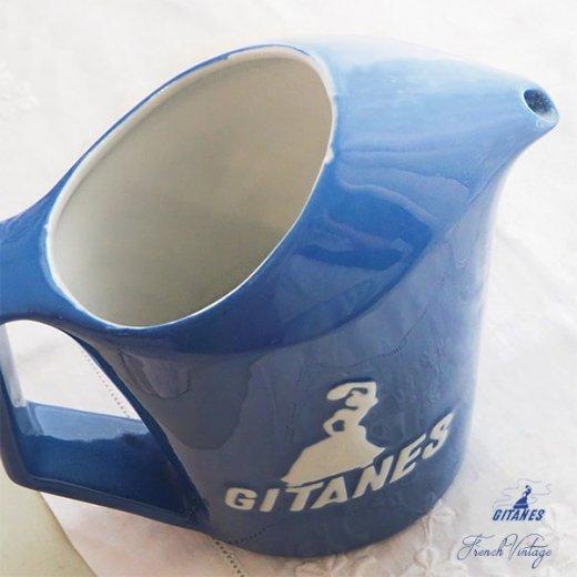 【送料無料】1960年代 フランス アンティーク カフェ フレンチパブ GITANES ピッチャー 陶器 アドバタイジング 販促品 たばこメーカー【画像7】