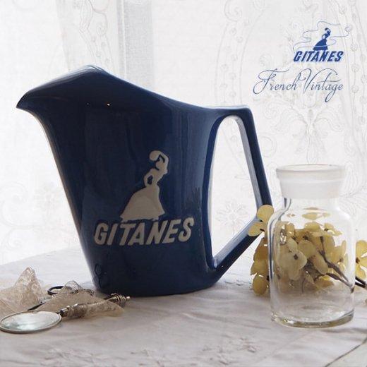 【送料無料】1960年代 フランス アンティーク カフェ フレンチパブ GITANES ピッチャー 陶器 アドバタイジング 販促品 たばこメーカー【画像8】