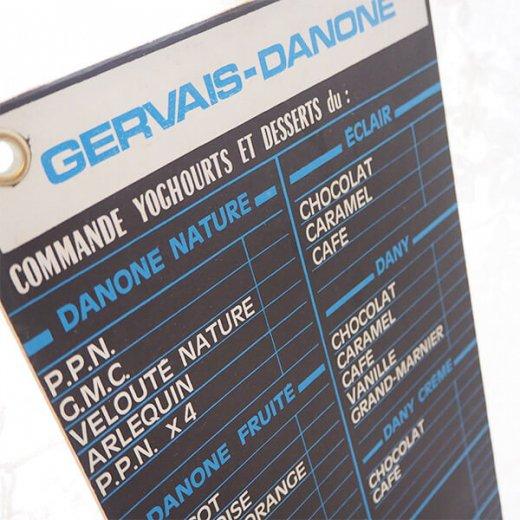 【レア】1960年代 フランス蚤の市より アンティーク DANONE ダノン カフェ ボード【Gervais-Danone】 アドバタイジング 販促品【画像5】