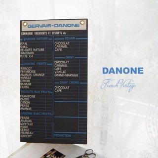 【レア】1960年代 フランス蚤の市より アンティーク DANONE ダノン カフェ ボード【Gervais-Danone】 アドバタイジング 販促品