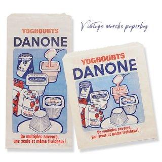 フランス蚤の市より  1960年代 ダノン  アンティーク  マルシェ袋 (2点セット)
