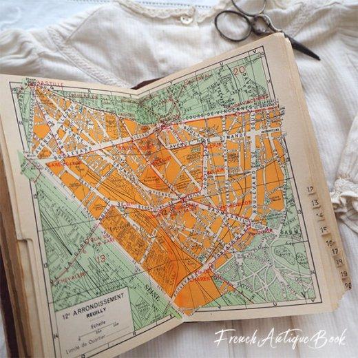 1950年代 フランス  アンティーク本 (PLAN DE PARIS パリ ガイドブック )【画像3】