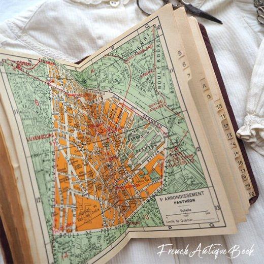 1950年代 フランス  アンティーク本 (PLAN DE PARIS パリ ガイドブック )【画像4】