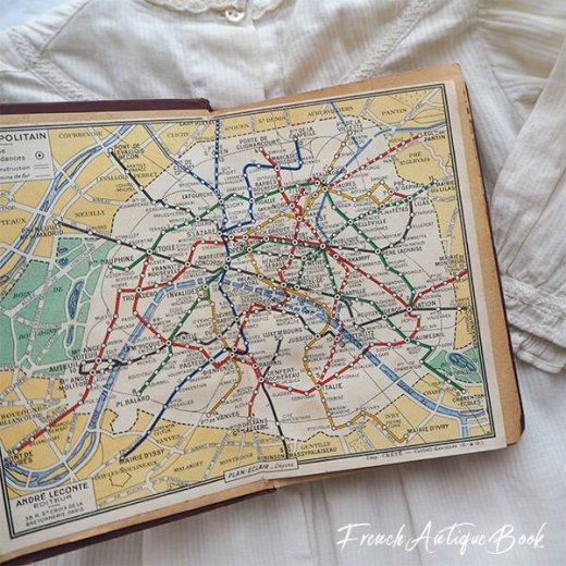 1950年代 フランス  アンティーク本 (PLAN DE PARIS パリ ガイドブック )【画像7】