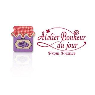 フランス輸入ボタン アトリエ・ボヌール・ドゥ・ジュール【ブルーベリー ジャム】