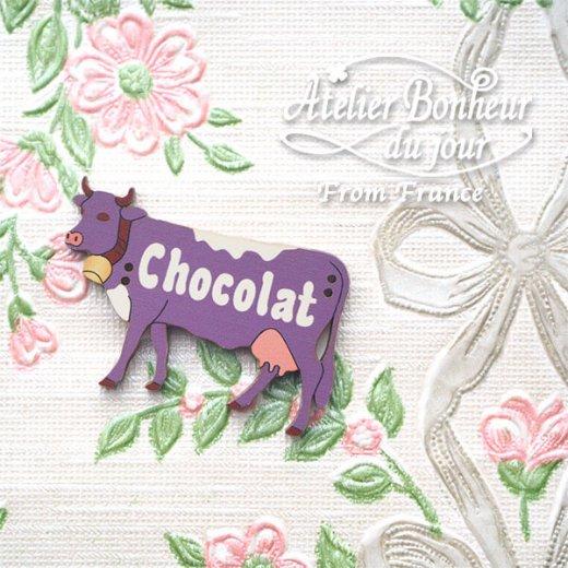 フランス輸入ボタン アトリエ・ボヌール・ドゥ・ジュール【動物 牛 chocolat】【画像7】
