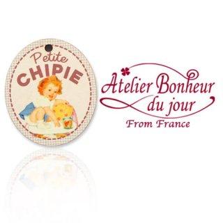 森ガール 雑貨 フランス輸入ボタン アトリエ・ボヌール・ドゥ・ジュール【Petite CHIPIE おてんばさん】