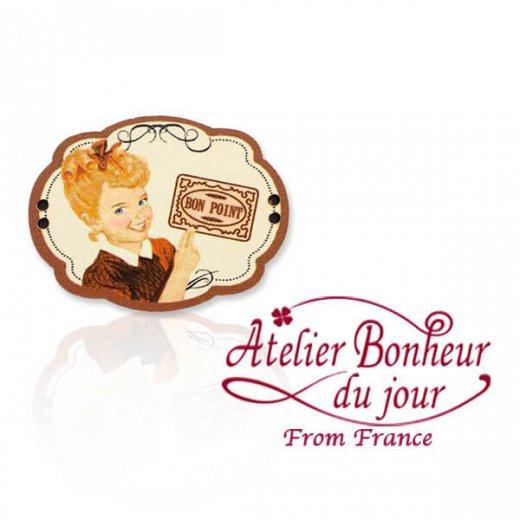 フランス輸入ボタン アトリエ・ボヌール・ドゥ・ジュール【BON POINT  ごほうび】