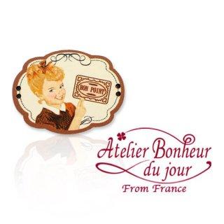森ガール 雑貨 フランス輸入ボタン アトリエ・ボヌール・ドゥ・ジュール【BON POINT  ごほうび】