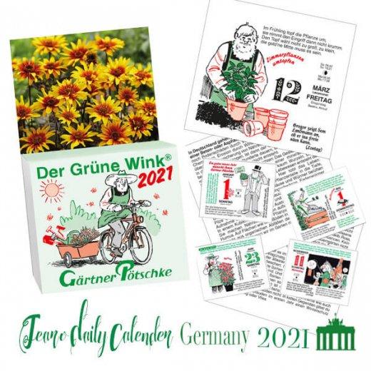 【予約商品】2021年 ドイツ RUNNEN (ブルネン)  ガーデニング 日めくりカレンダー(9月下旬入荷予定) 【画像2】
