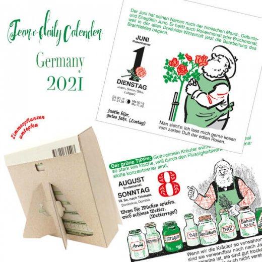 【予約商品】2021年 ドイツ RUNNEN (ブルネン)  ガーデニング 日めくりカレンダー(9月下旬入荷予定) 【画像3】