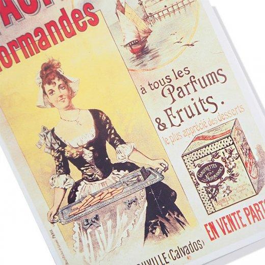 フランス ポストカード ゴーフレット ノルマンデス Paris 1890(カフェ スイーツ)【画像2】