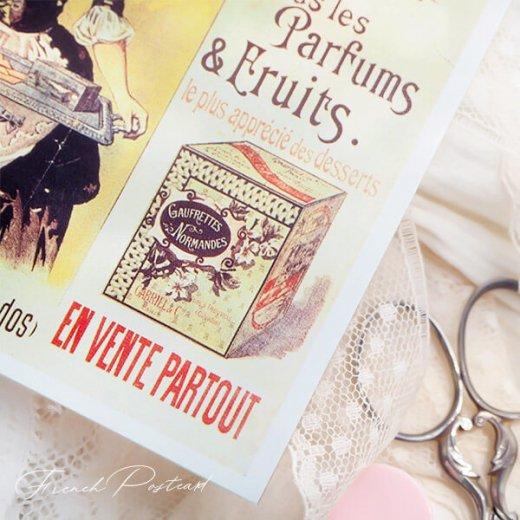 フランス ポストカード ゴーフレット ノルマンデス Paris 1890(カフェ スイーツ)【画像3】