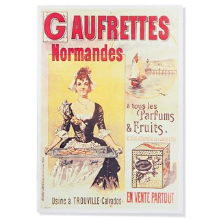 フランス ポストカード ゴーフレット ノルマンデス Paris 1890(カフェ スイーツ)
