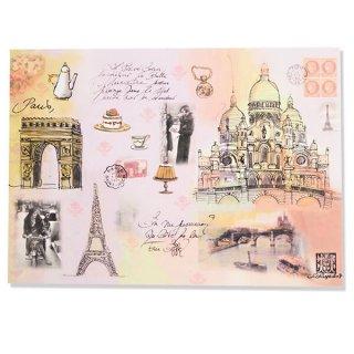 フランス ポストカード スイーツ ガーリー(凱旋門 エッフェル塔 サクレクール寺院)