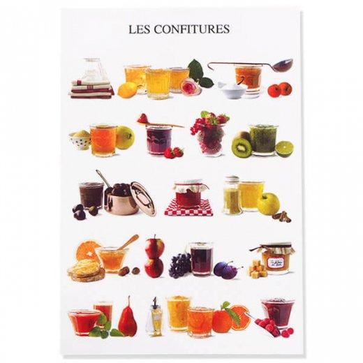フランス ポストカード コンフィチュール ジャム(LES CONFITURES)