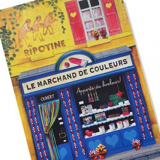 フランス ポストカード(Le marchand de couleurs)【画像7】