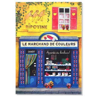 フランス ポストカード(Le marchand de couleurs)