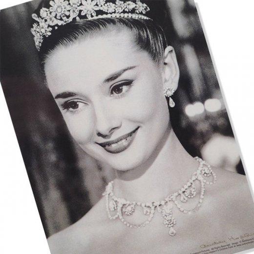フレンチ ポストカード オードリー・ヘップバーン ティアラ ローマの休日 (Audrey Hepburn)【画像2】