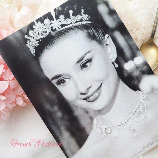 フレンチ ポストカード オードリー・ヘップバーン ティアラ ローマの休日 (Audrey Hepburn)【画像5】