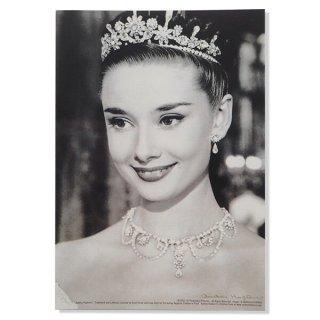 フレンチ ポストカード オードリー・ヘップバーン ティアラ ローマの休日 (Audrey Hepburn)