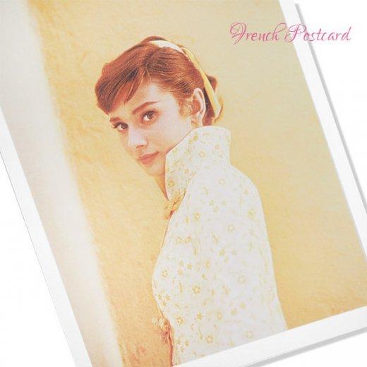 フレンチ ポストカード オードリー・ヘップバーン 1955(Audrey Hepburn)【画像2】