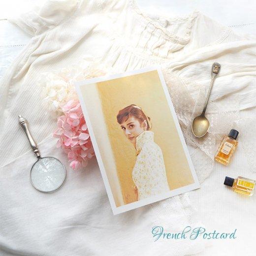 フレンチ ポストカード オードリー・ヘップバーン 1955(Audrey Hepburn)【画像3】