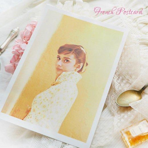 フレンチ ポストカード オードリー・ヘップバーン 1955(Audrey Hepburn)【画像4】