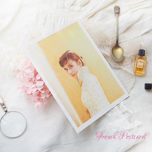 フレンチ ポストカード オードリー・ヘップバーン 1955(Audrey Hepburn)【画像5】